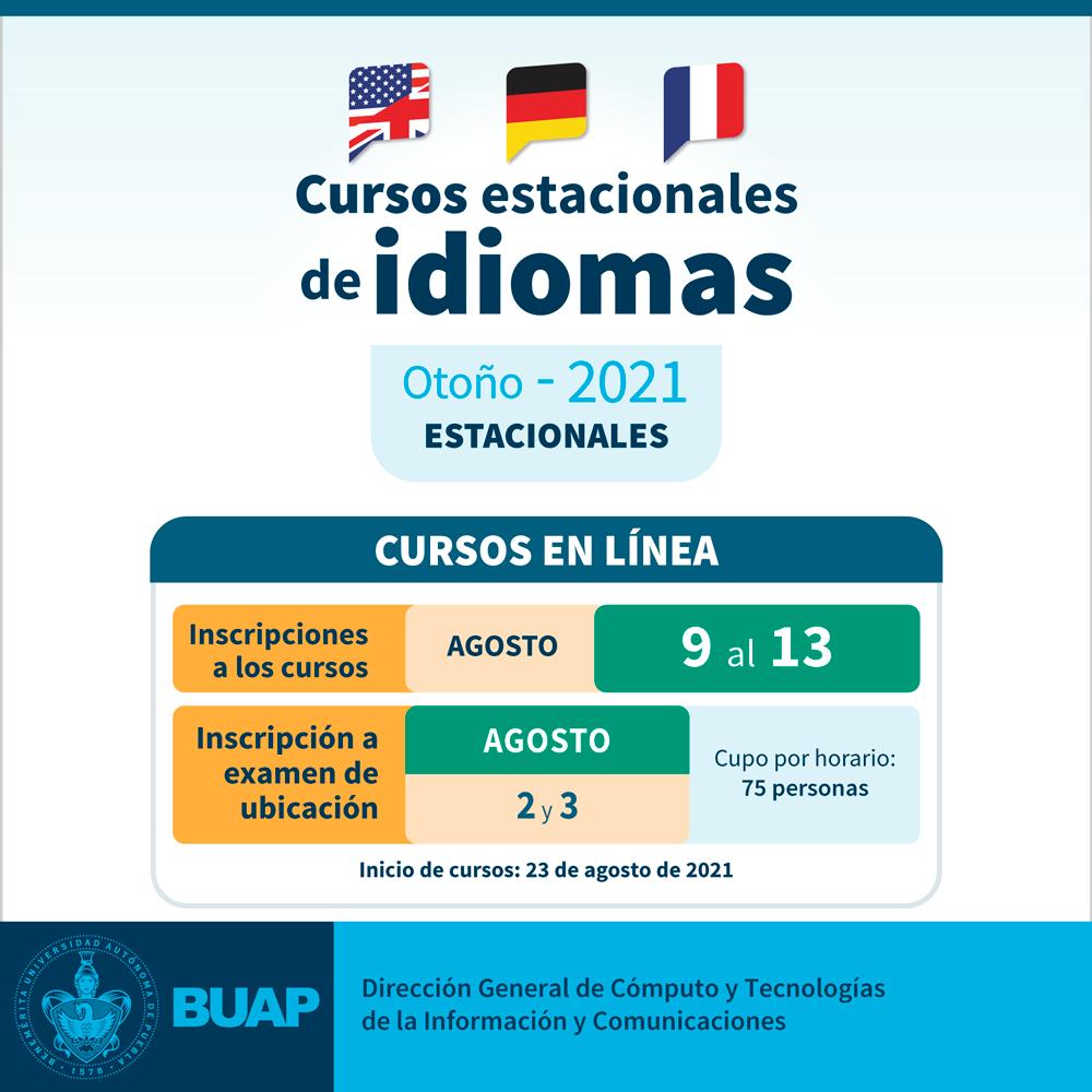 Cursos Estacionales De Idiomas Otono 2021 Benemerita Universidad Autonoma De Puebla