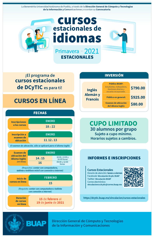 Cursos Estacionales De Idiomas Primavera 2021 Benemerita Universidad Autonoma De Puebla